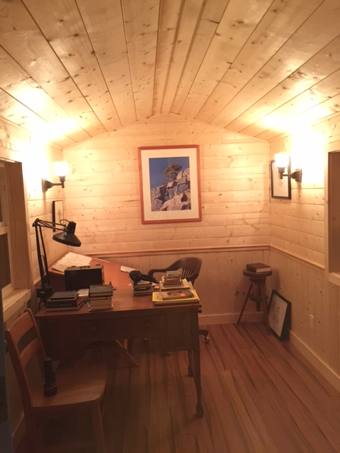 Inside Vaun's writing studio