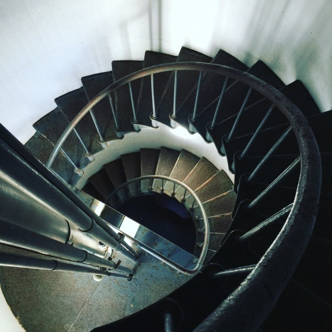 The lighthouse stairs.